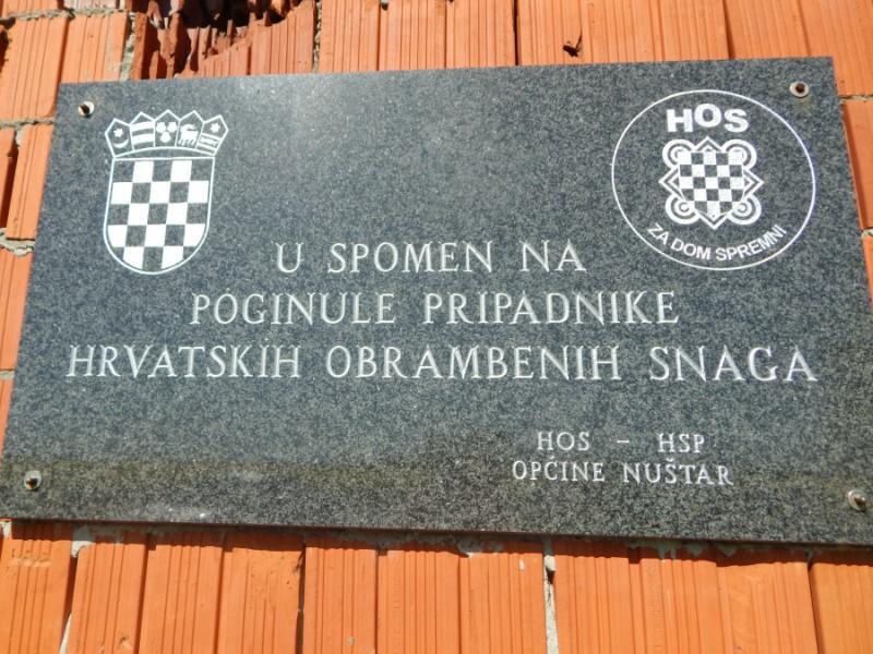 Ploča za dom spremni Cerić Nuštar