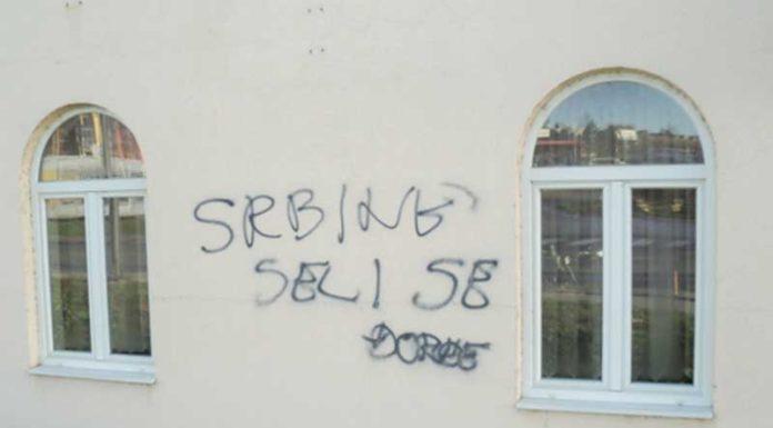 Srbine seli se Vukovar manjinska prava grafit