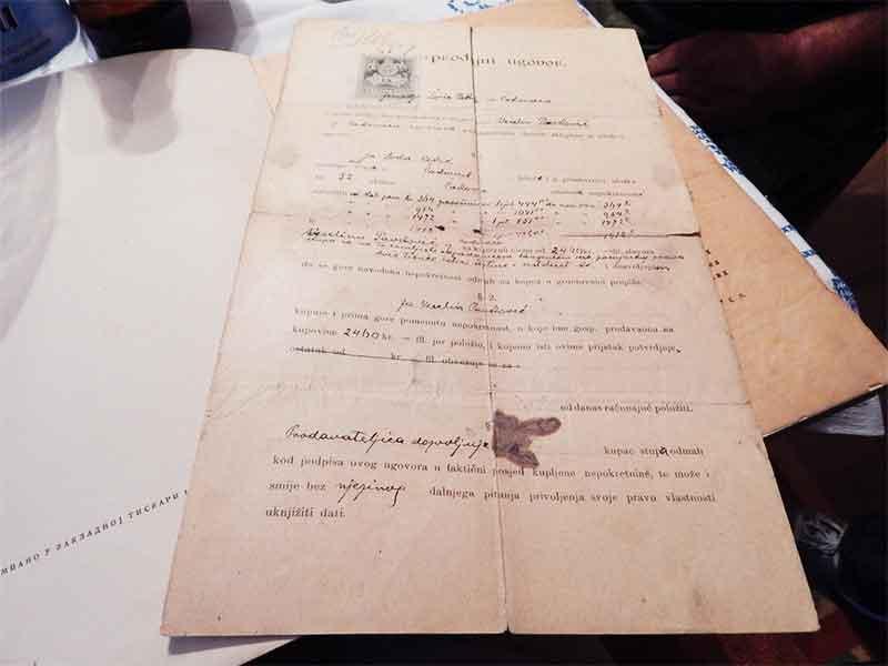 Čakovci-ugovor o kupovini zemljišta 1898 Čakovci Veselin Pavlović