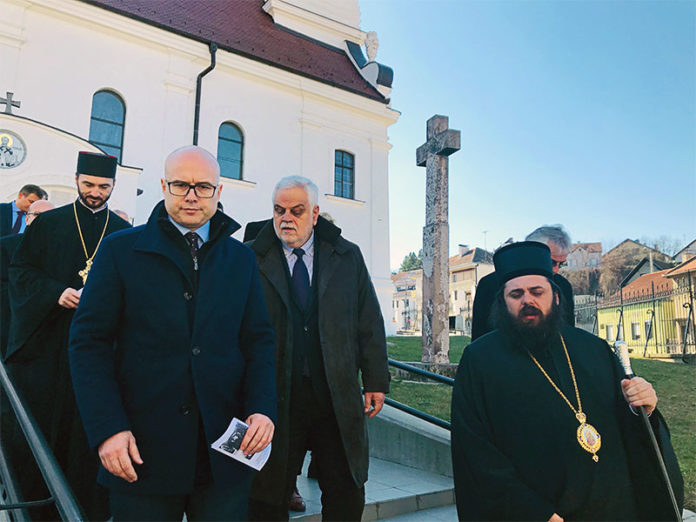 Miloš Vučević gradonačelnik novi sad poseta vukovaru epsikop osečkopoljski i baranjski heruvim vojislav stanimirović saša kuzmanović