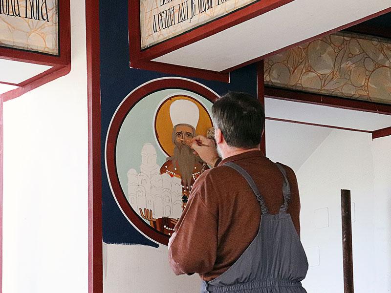 Freskopisanje dragan stanković manastir uspenja presvete bogorodice dalj planina