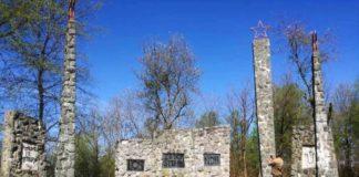 Banski Grabovac spomenik ustaški grafiti