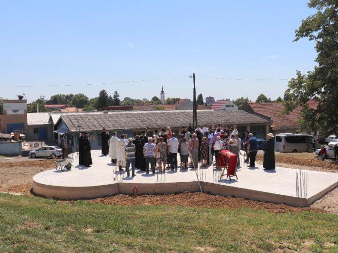 Nova Gradiška temelj crkve svetog nikolaja osvećenje