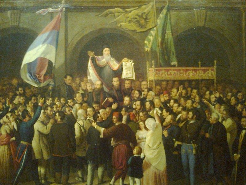 Crkveno-narodni_sabor_u_Karlovcima_1848 Simboli Srba u Hrvatskoj