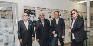 "Đ. Nešić, Slobodan Aleksić, gen. konzul Goran Petrović, Vladimir Jelenković ""Tesla, Pupin, Milankovi"